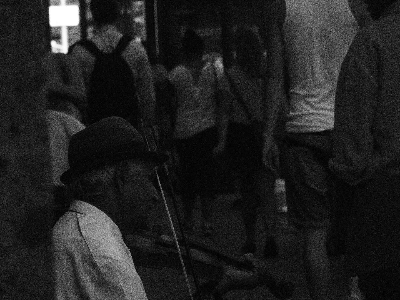 Man playing the violin